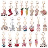 Crystal Rhinestone Keyring Keychain Charm Pendant Bag Purse Car Key Chain Gifts