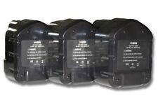 3x BATTERIA VHBW 3300mAh PER Hitachi EB1214L, EB1214S, EB1220BL, EB1220HL