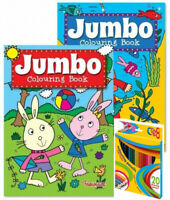 A4 Colouring Book Kids JUMBO Pencil Color Drawing Activity Children 150 Picture