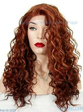LONG CURLY WIG | LACE FRONT | STUNNING SEXY  F33.32.240  RED MIX  263 -2