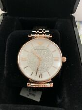 Emporio Armani Women Stainless Steel Classic Silver Rose Gold Retro Watch