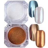 2 Boxen Mirror Powder Nagel Kunst Puder Nail Glitter Chrom Pigment BORN PRETTY