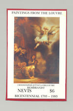 Nevis #783 Art, Rembrandt 1v S/S Imperf Chromalin Proof on Construction Paper