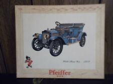 vintage Pfeiffer beer sign antique White Steam Car 1909 wooden 12x10 50s or 60s