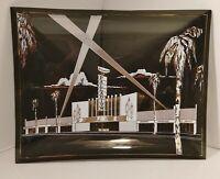 ULTRA RARE! MCM Ashtray Hollywood Palladium Glass Dish Plate 9x7 Late 50's
