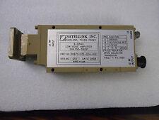 SATELLINK INC. X BAND LNA SHA750-55LB1 P/N 9V670-551-024-002 LOW NOISE AMPLIFIER