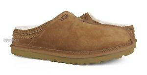 UGG Neuman Chestnut Suede Fur Slippers Mens Size 5 (Fits Size 7 Womens) *NIB*