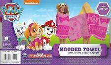 "Paw Patrol Skye Pilot Dog Hooded Towel 100% Cotton 51""x23"" Red Bath Beach Pool"