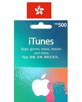 1pc x Apple Hong Kong iTunes Gift Card $HK500 (for Hong Kong Accounts Only)