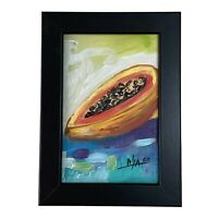 "PAINTING ORIGINAL ACRYLIC ON FIBERBOARD (FRAME INCLUDED) 4x6"" CUBAN ART by LISA."