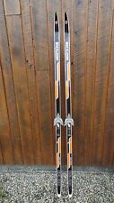 "Vintage Skis 76"" Long Original Black Orange Signed Skilom Great for Decoration"