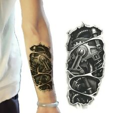 Cool Temporary 3D Large Waterproof Tattoo Stickers Mechanical Arm Fake Transport