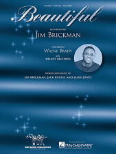 Beautiful Song by Jim Brickman Piano Sheet Music Guitar Chords Vocal Lyrics NEW