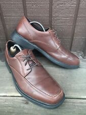 Bostonian FlexLite Mens Sz 10W Brown Leather LaceUp Derby Casual Dress Shoes-454