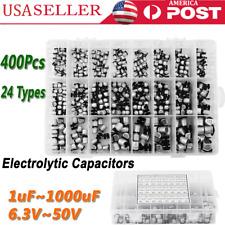 400pcs 24 Values Smd Electrolytic Capacitors Assortment Kit 1uf 1000uf In Box