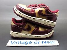 Nike Air Force 1 Low Burgundy Gold Patent Leather Toddler 2010 sz 8C