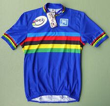 beautiful original UCI SANTINI blue WC cycling jersey TOUR DE FRANCE EROICA