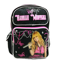 "Disney Hannah Montana Girls 16"" Canvas Pink School Backpack"