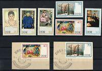 DDR 1967 Briefmarken - Satz  - Gemälde Neuer Meister - Postfrisch + Briefstück
