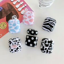 Cow Pattern Earphone PC Hard Protective Case Cover For Apple AirPods 1 2 Pro