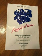 Aspects of Love - Theatre Lot - Programs / Signed Poster Articles Broadway rare