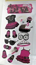 My Little Diva Baby Girl Toddler Outfit Shoes Sunglasses Jewelry RC 3D Stickers