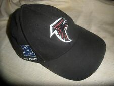 Atlanta Falcons NFL Reebok Black Cap Hat with Adjustable Strap One Size Fits All