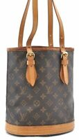 Authentic Louis Vuitton Monogram Bucket PM Shoulder Bag M42238 LV B0136
