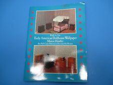 Vintage Dollhouse Early American Paper Wallpaper 6 Patterns Munchie Hendler VS31