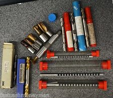 MACHINIST CUTTING TOOL BITS LOT DUMONT HS BROACH NIAGRA TRW MSC DOUBLE FLUTES