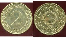 YOUGOSLAVIE 2 dinara 1984