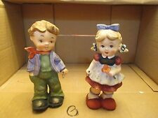 Vintage Sonsco Japan Ceramic Boy Girl Figurine Set