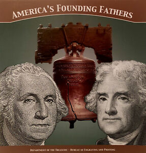 2018 America's Founding Fathers Currency Set Series 2013 $1 and $2 (JZ)