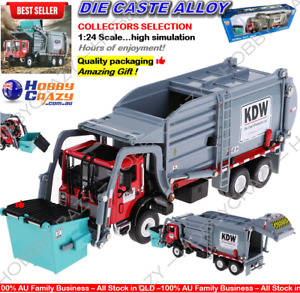 Diecast 1:24 Dump Truck Toy Model Garbage Waste Recycling Transport Toy Digger
