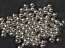 2mm Sterling Silver Round Beads (100) Made in U.S.A.