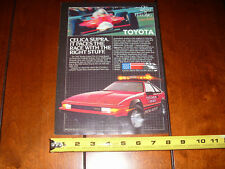 1982 TOYOTA CELICA SUPRA LONG BEACH CALIFORNIA GRAND PRIX PACE CAR - ORIGINAL AD