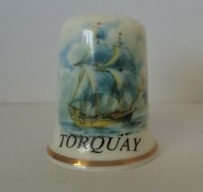 Lownds Pateman Fine Bone China Torquay Ship Thimble Made in England