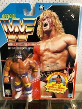 WWF – Hasbro Series 3 – Ultimate Warrior – 12 Back French Card- Wrestling Figure
