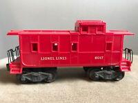 Postwar Lionel Lines No. 6017 Caboose Model Train Railroad RR