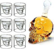 6 Verres à Whisky Carane Design Tête de Mort 700ML Cristal Transparent  Crâne