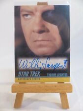 Star Trek TOS 40th 2009 autograph card A216 William Sargent as Thomas Leighton