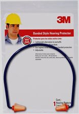 >> 3M TEKK Safety Banded Hearing Protector EAR PLUGS Protection 28 dB Adjustable