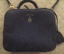 Mark Cross Baby Laura Suede Camera Bag Black Orig $1695