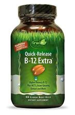 Irwin Naturals Quick Release B-12 Extra High Potency Cellular Energy 60 Softgels