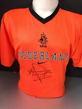 Signed Louis Van Gaal Retro Netherlands Home Training Shirt