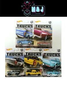 Hot Wheels Trucks Real Riders SET 1-5 Rare Ford, Chevrolet, Datsun  (Aus Seller)