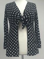 new plus size 24 polka dot spot print cardigan top