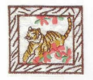 Fleur Tigre Safari Savane Broderie Patch