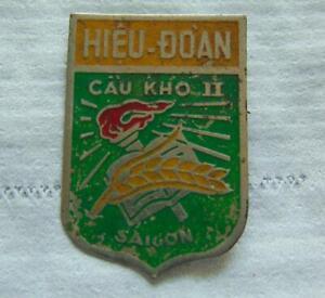 "Vietnam War Era "" Cau Kho"" Saigon High School Beercan Chest Pin"