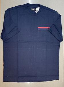 Rapha Men's Logo Pocket T-Shirt Dark Navy High-Vis Pink XX Large New With Tag